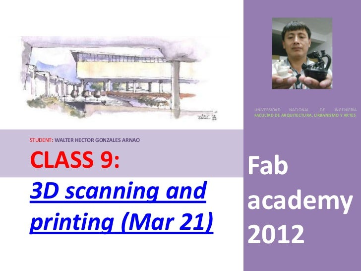 3 d scanning and printing (mar 21)