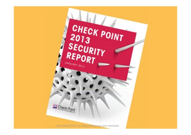 11©2010 Check Point Software Technologies Ltd. | [Restricted] ONLY for designated groups and individuals |[Restricted] ONL...