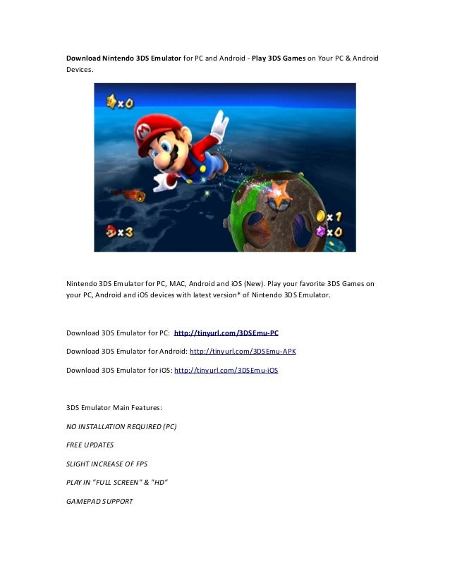 Download 3DS Emulator for PC Android
