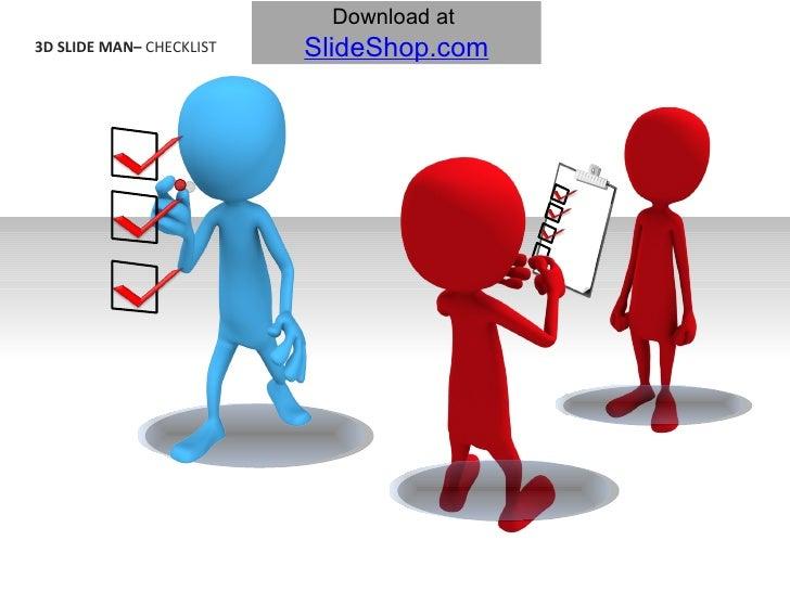 3D Slide Man - Checklist