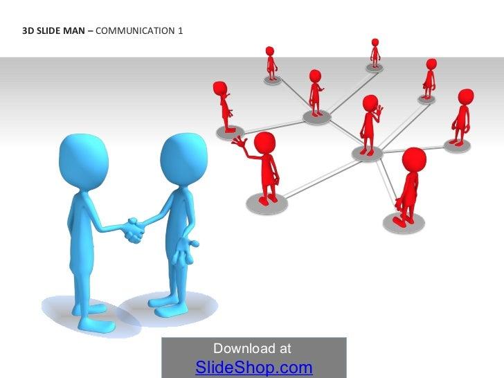 3 d slide man   communication 1
