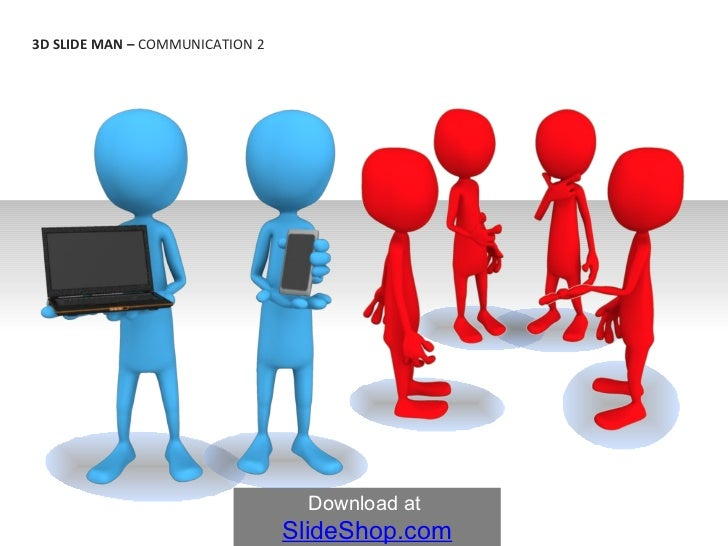 3 d slide man communication 2