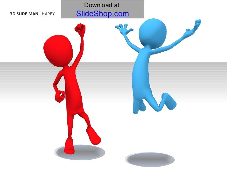 3D Slide Man - Happy