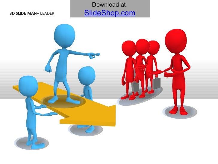 3D slide man   leader