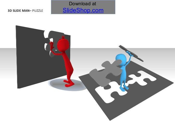 3D slide man -  puzzle
