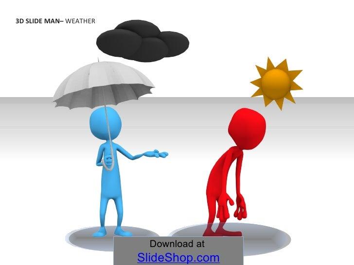 3D SLIDE MAN–  WEATHER   Download at  SlideShop.com