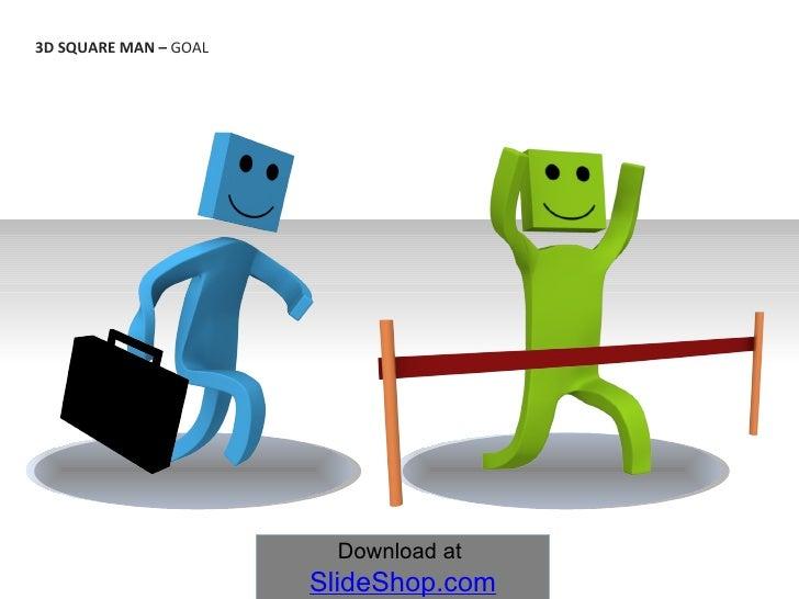 3D SQUARE MAN –  GOAL