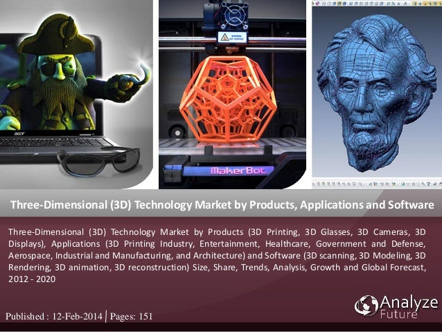 Three-Dimensional (3D) Technology Market by Products, Applications and Software