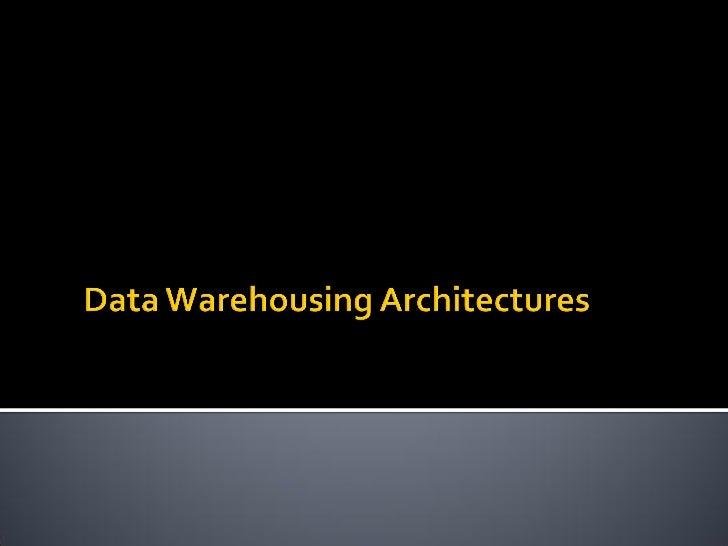 3 dw architectures