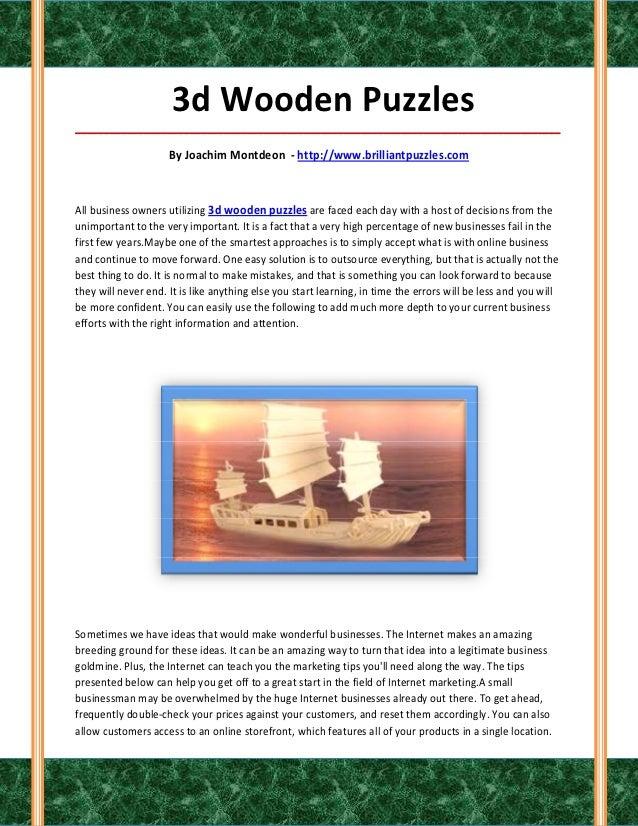 3d Wooden Puzzles_____________________________________________________________________________________                    ...