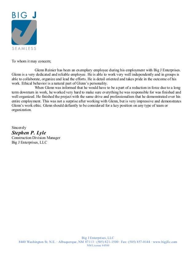 letter of recommendation steve lyle 5