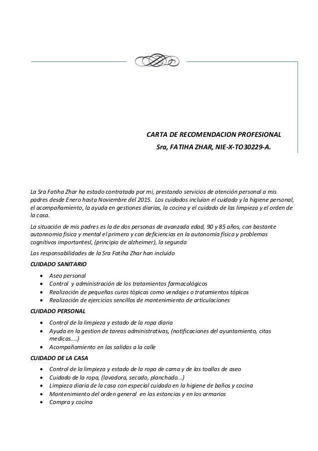 formatos cartas de recomendacion laboral