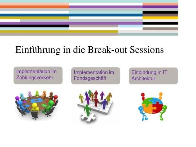 Einführung in die Break-out Sessions Implementation im Zahlungsverkehr  Implementation im Fondsgeschäft  Einbindung in IT ...