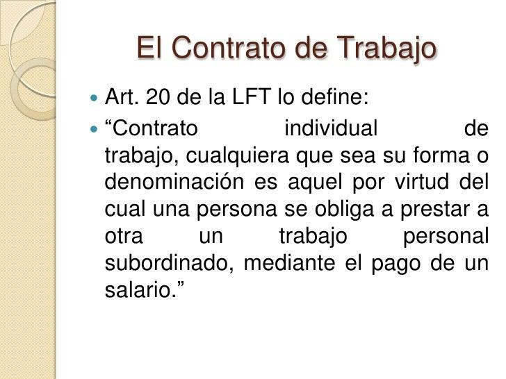 3 el contrato individual de trabajo for Contrato trabajo