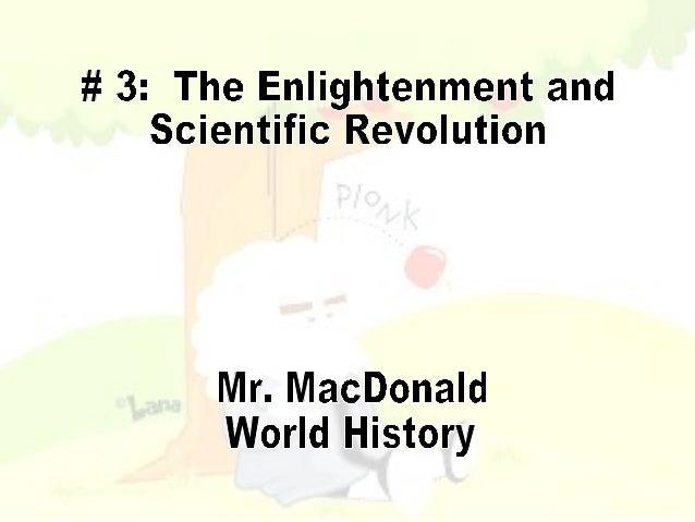 # 3 Enlightenment and Scientific Revolution