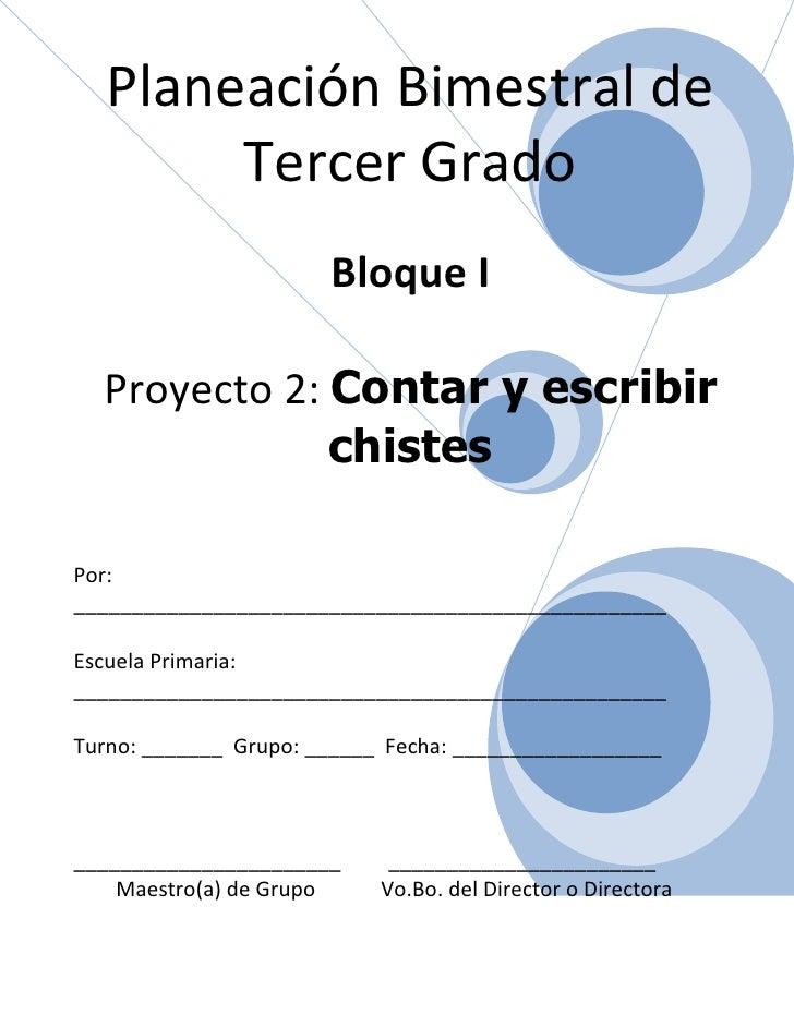 3er grado   bloque i - proyecto 2