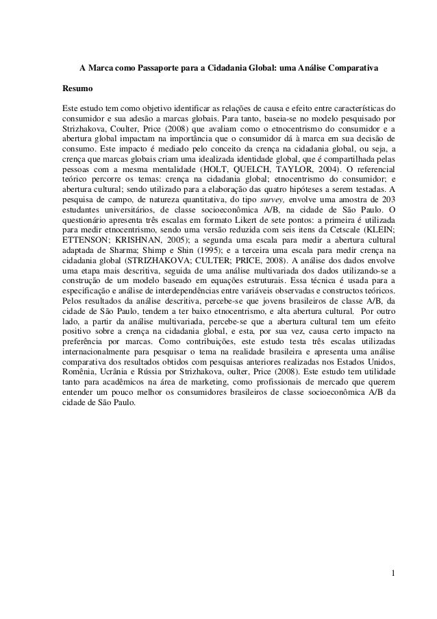 1A Marca como Passaporte para a Cidadania Global: uma Análise ComparativaResumoEste estudo tem como objetivo identificar a...
