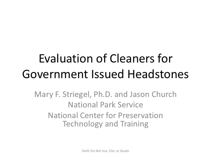 3 evaluation of cleaners for government issued headstones