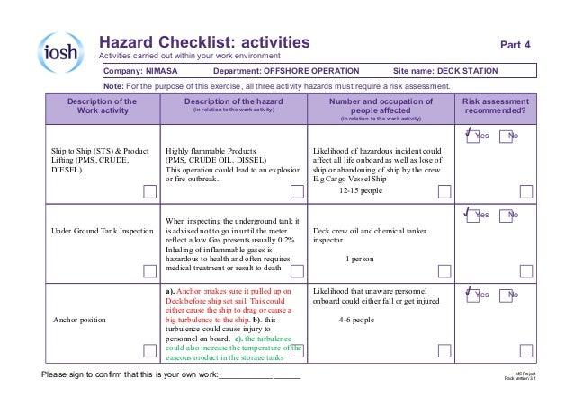 risk assessments essay