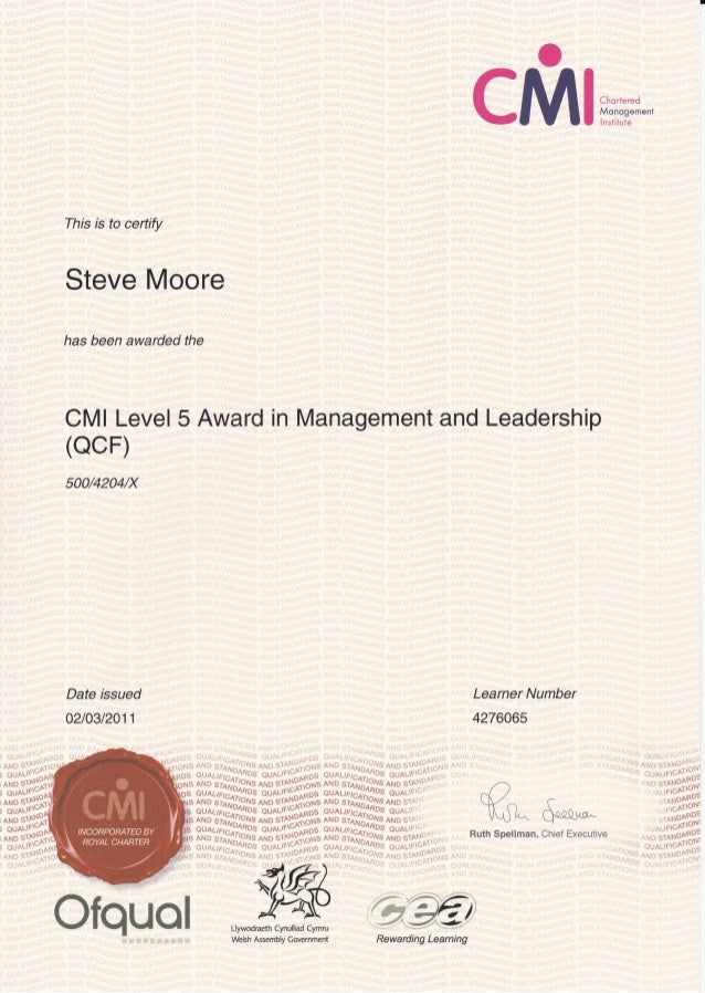 award in leadership and management This award consists of attending two days training focusing on understanding leadership and leading and motivating a team effectively you will be required to write.