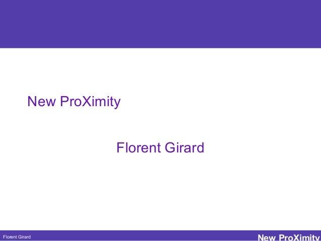 Florent Girard New ProXimity Florent Girard Petit texte pour gagner du temps