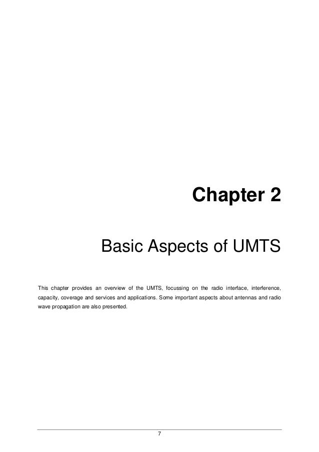 Dissertation application development for umts