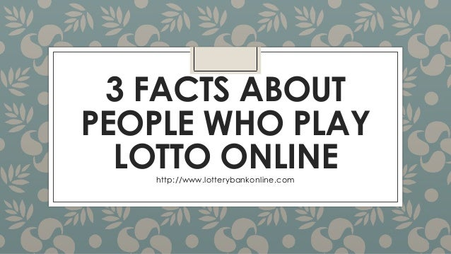 play the lotto online