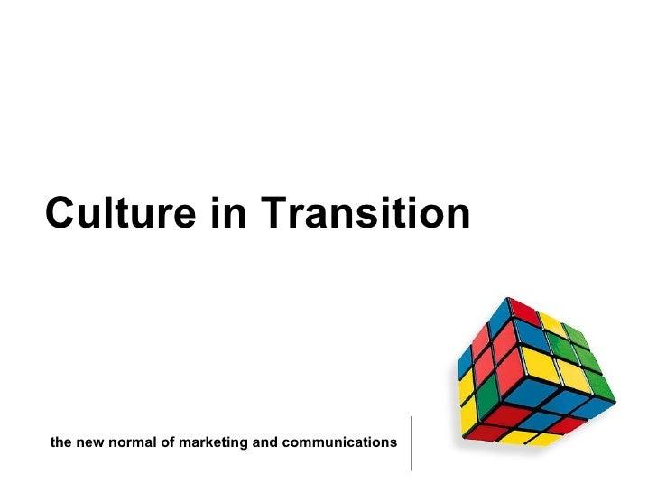 Digital Cult To Digital Culture