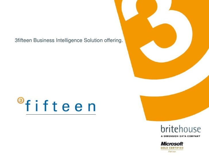 3fifteen Business Intelligence Solution offering.<br />