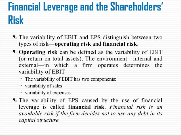 the effect of leverage on shareholders Equity ownership structure, leverage, and productivity: theoretical and empirical literature concerning the determinants and effects of leverage structure which encourages shareholder activism or influence would tend to increase leverage in line with shareholder risk.