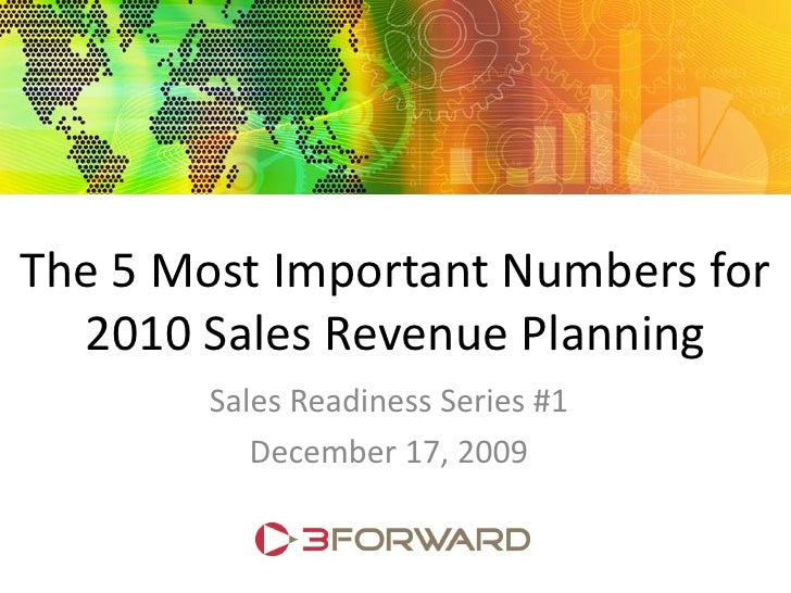 Revenue Planning for Sales