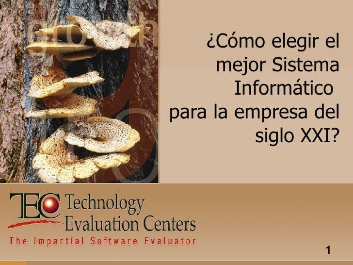 Sistemas Informáticos TEC