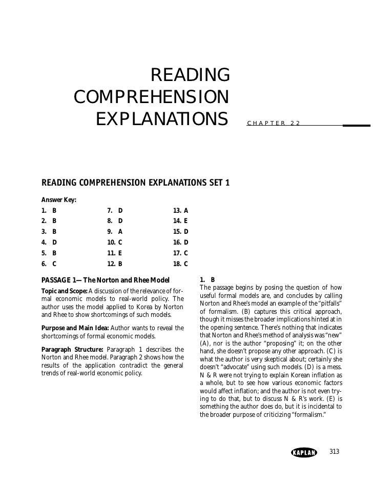 GRE Reading Comprehension