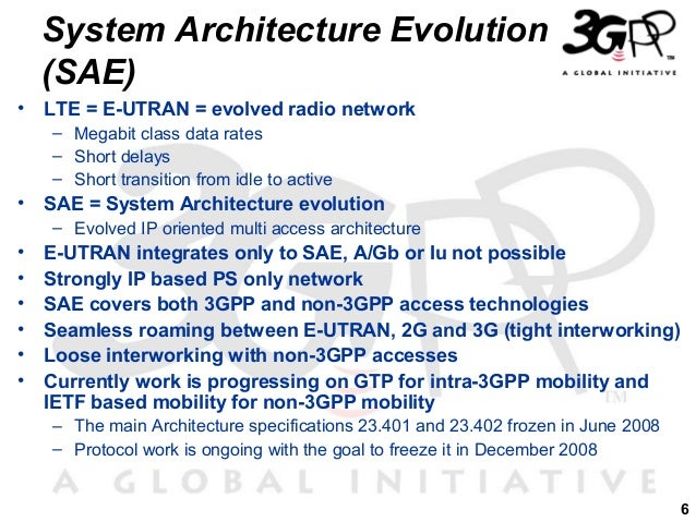 System Architecture Evolution System Architecture Evolution
