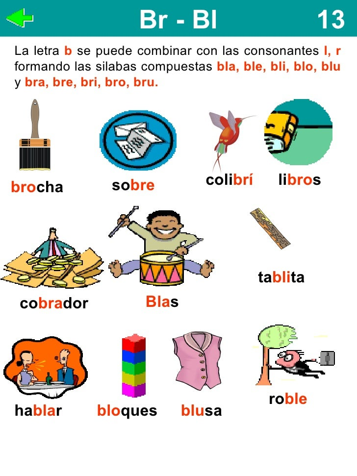 Palabras Silabas Compuestas Silabas Compuestas Bla