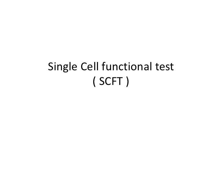 SingleCellfunctionaltest         (SCFT)