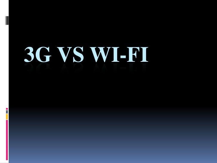 3 g vs wifi