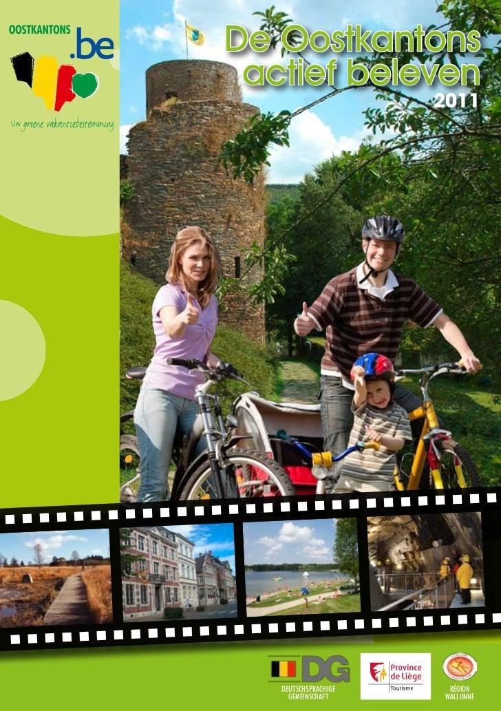 De Oostkantons aktief beleven Vakantie brochure