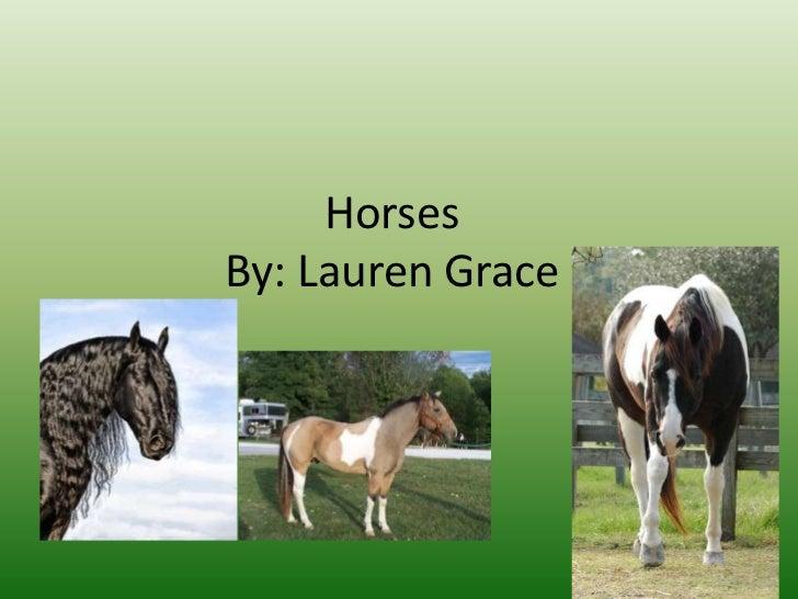 HorsesBy: Lauren Grace
