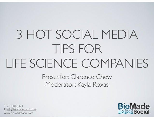 3 hot social media tips   bio made social