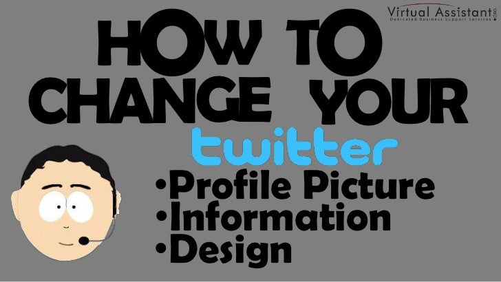 How to Change Your Twitter Profile