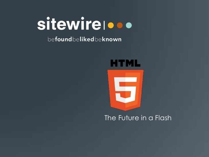 HTML5 - The Future in a Flash