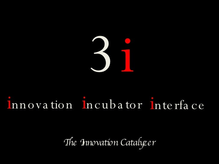 3i innova tion incuba tor interfa c e          TI          he nnovation Catalyzer