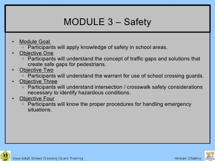 Iowa Crossing Guard Training 3 Safety