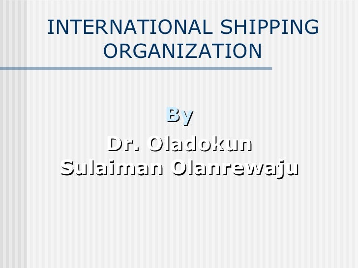 3 international shipping organization