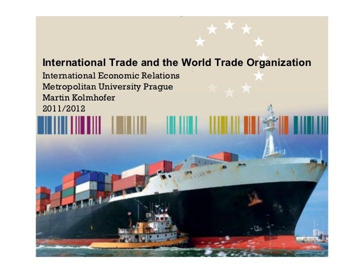 International Trade and the World Trade Organisation