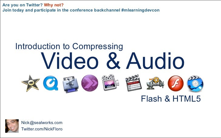 Intro to Compression: Audio and Video Optimization for Learning