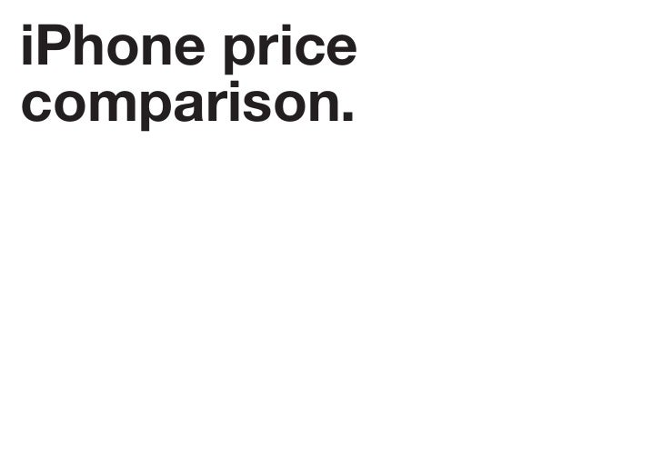 iPhone price comparison.