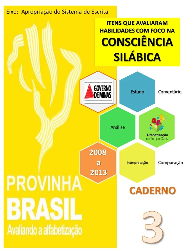 Estudo Comentário Análise Interpretação Comparação 2008 a 2013 ITENS QUE AVALIARAM HABILIDADES COM FOCO NA CONSCIÊNCIA SIL...