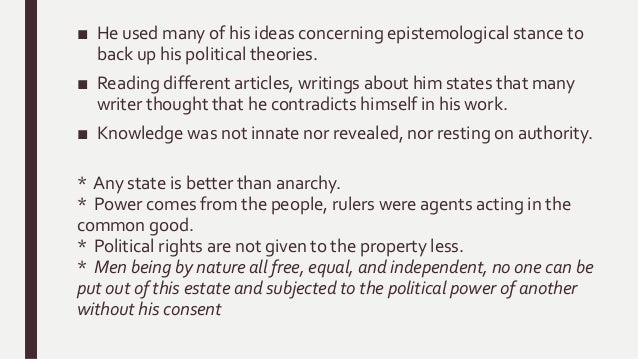 john locke political writings The single most important influence that shaped the founding of the united states comes from john locke the english political system in the writings of.